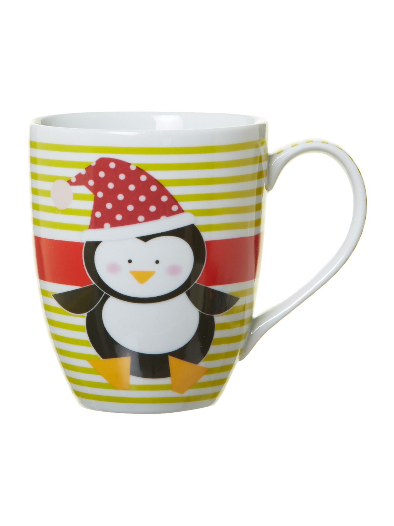 Novelty penguin boxed mug