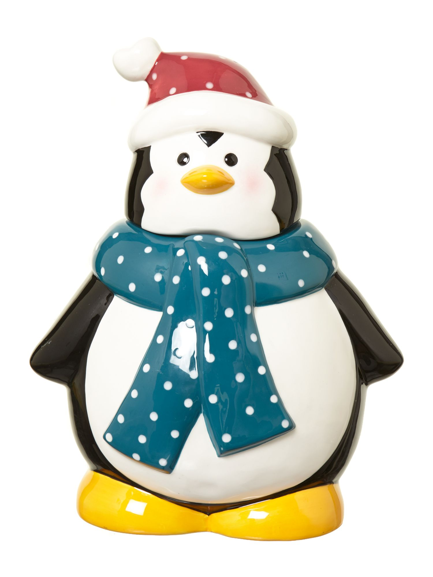 Novelty penguin cookie jar