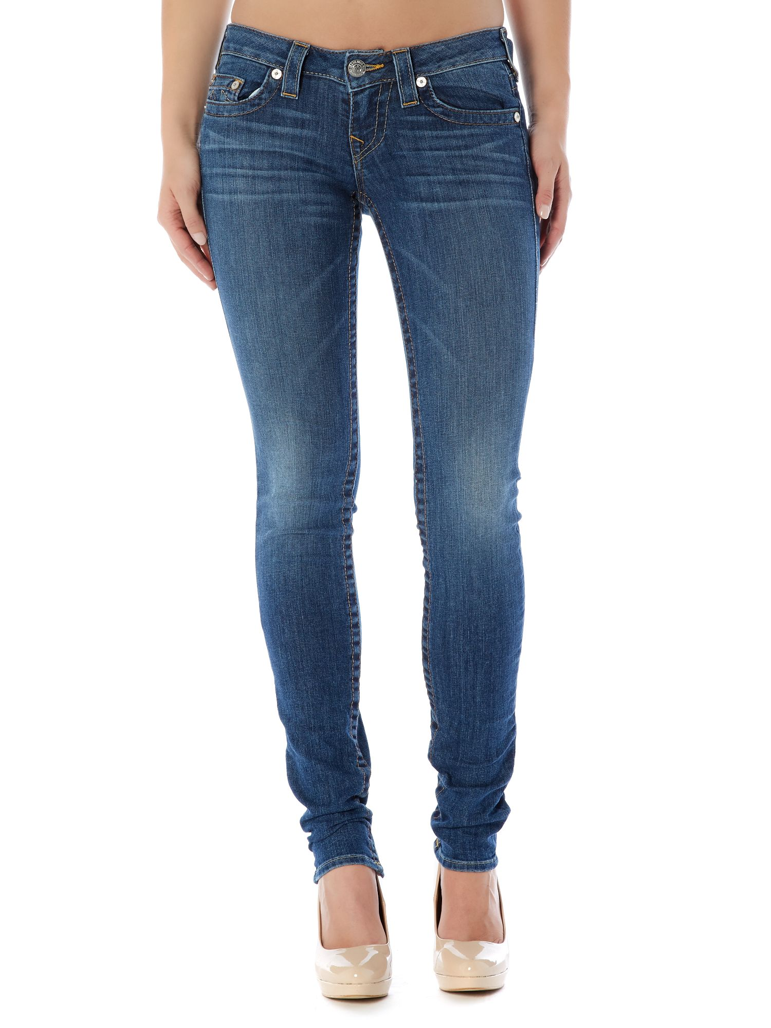 Stella low-rise skinny jeans in Del Mar
