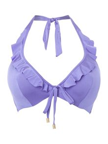 Honey plunge halter underwired bikini top