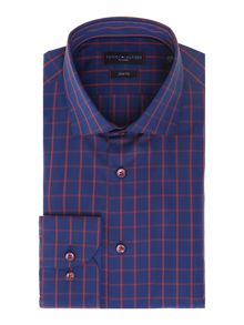 Louis 2 colour large gingham shirt