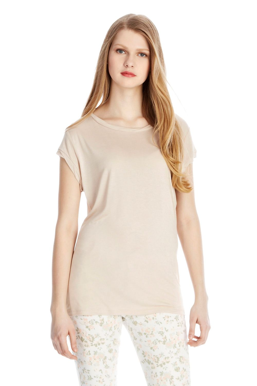 Twist neck formal tee