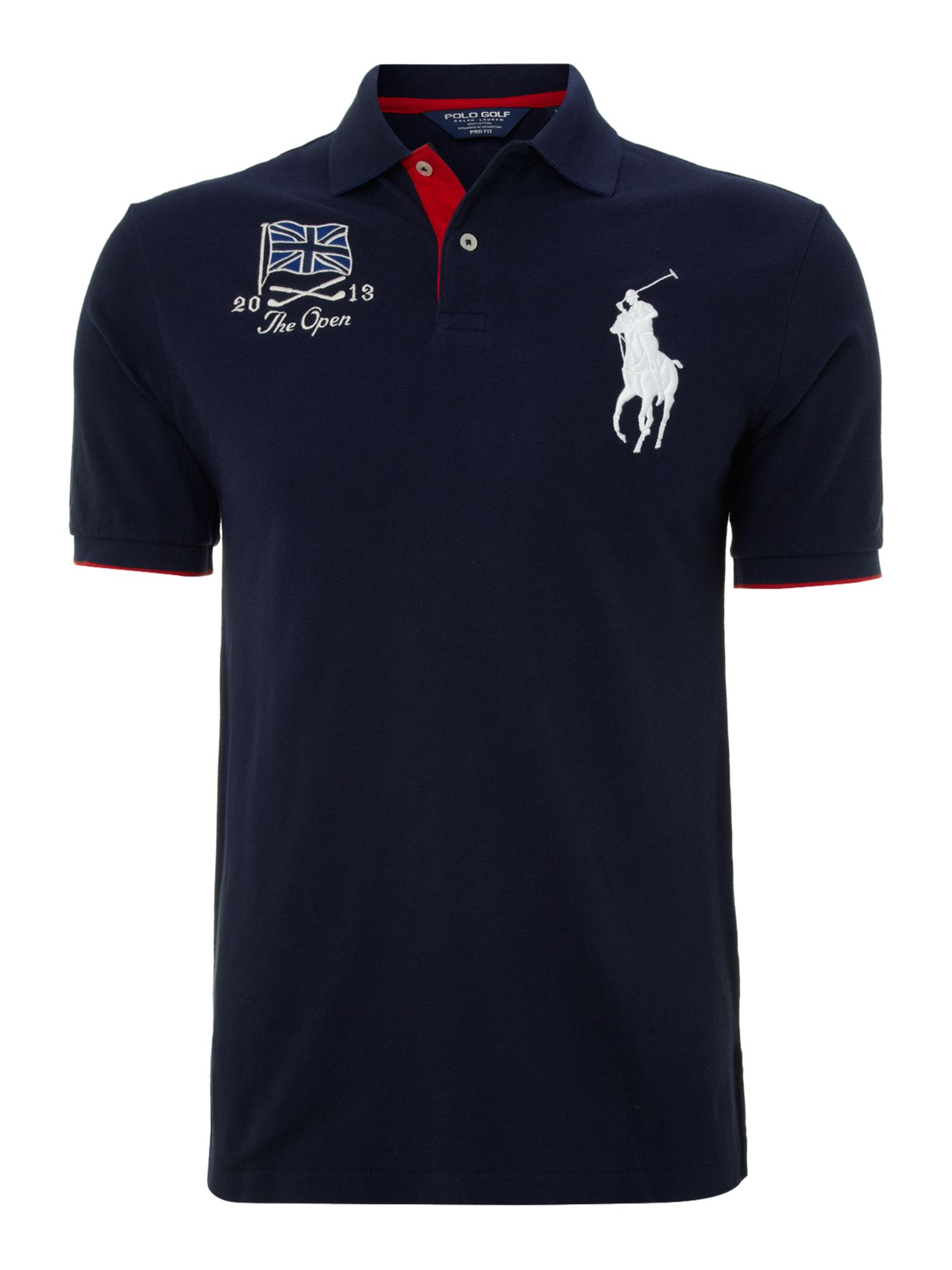 Open flag polo shirt