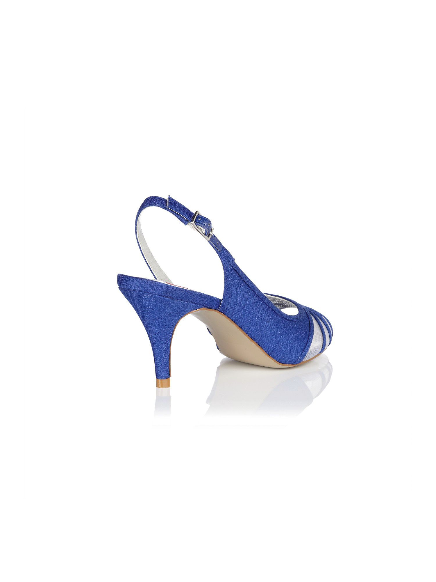Delphinium mesh peep toe shoes