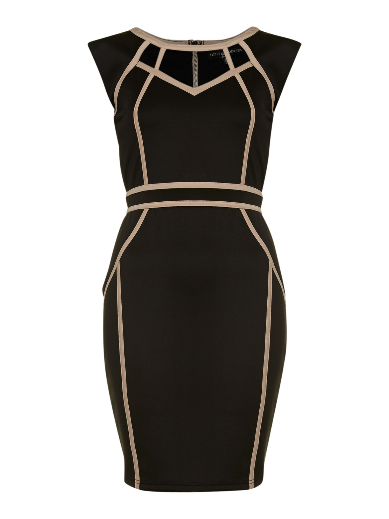 Bodycon contrast trim dress