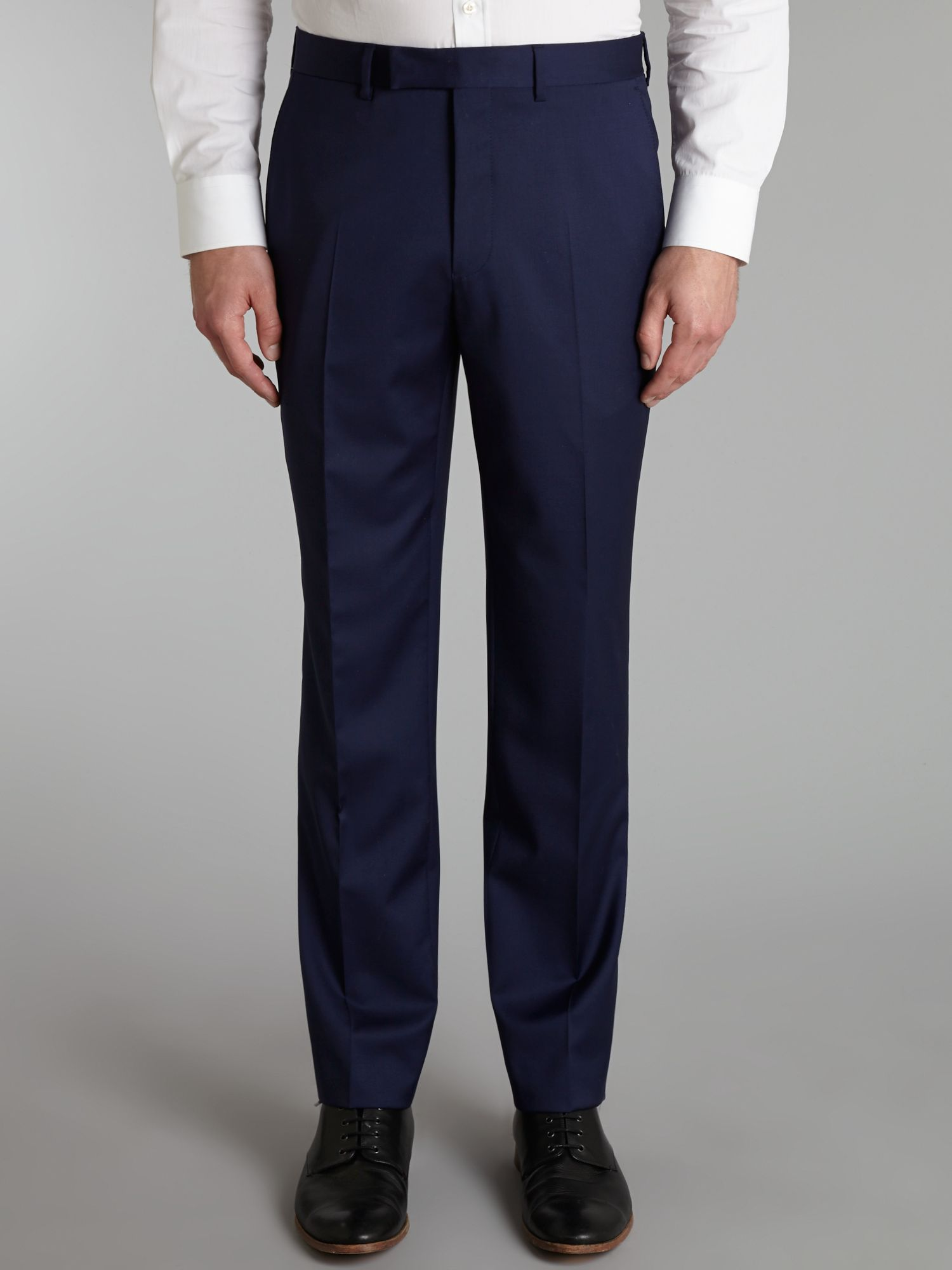 Twill regular fit trousers
