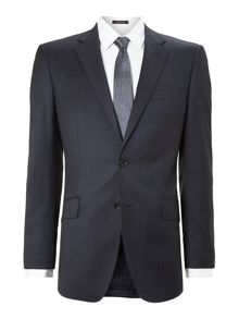 Simon Carter Pindot regular fit notch lapel jacket