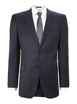 Pindot regular fit notch lapel jacket