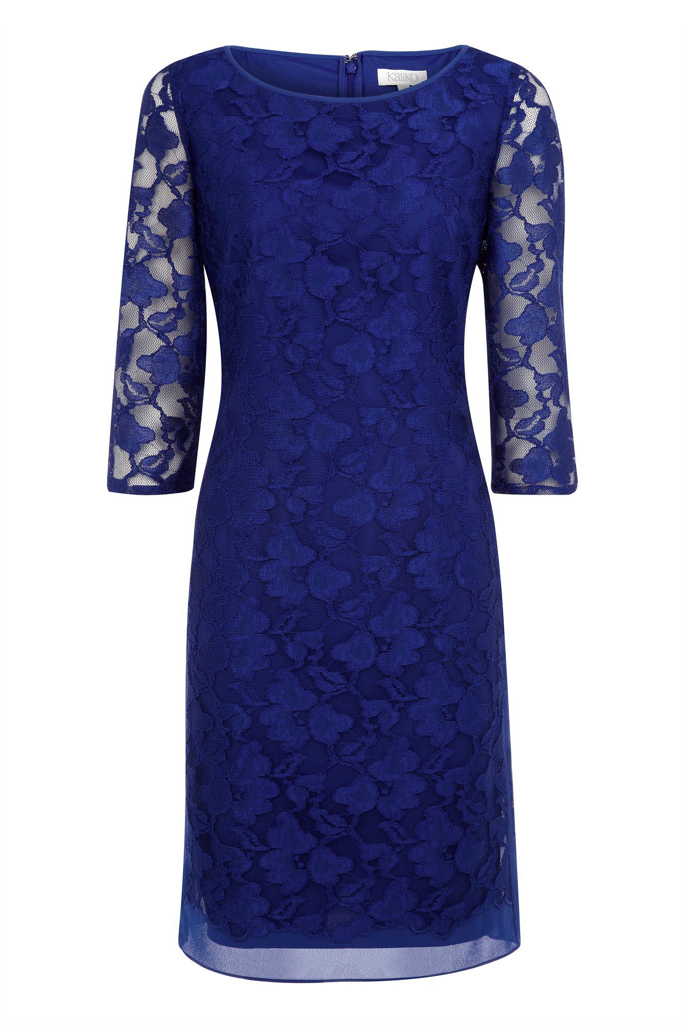 Panel detailed lace dress