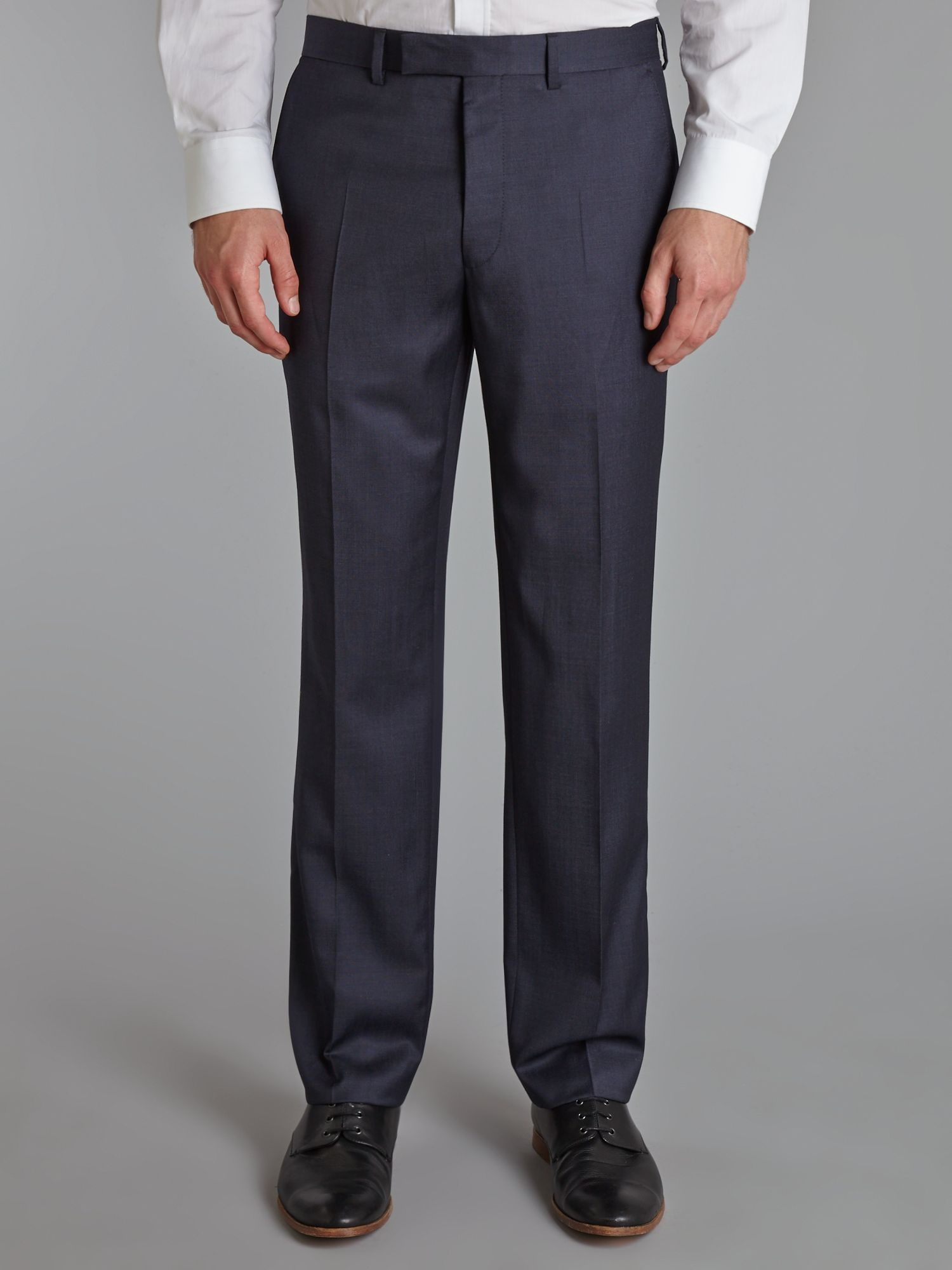 Pindot regular fit suit trousers