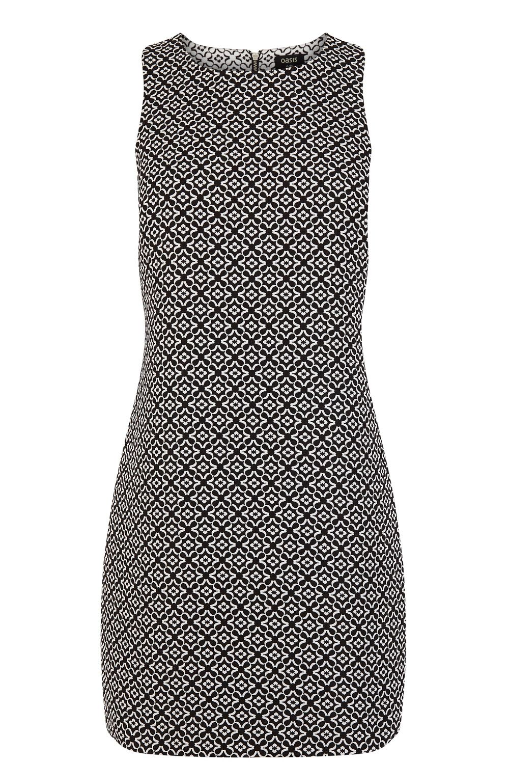 Joy jacquard zip dress