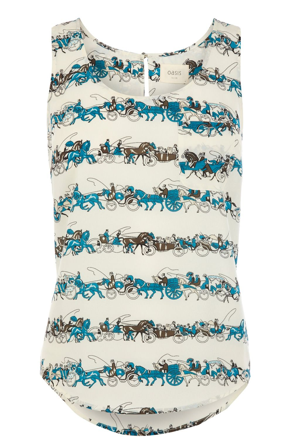 Horse and carriage stripe vest