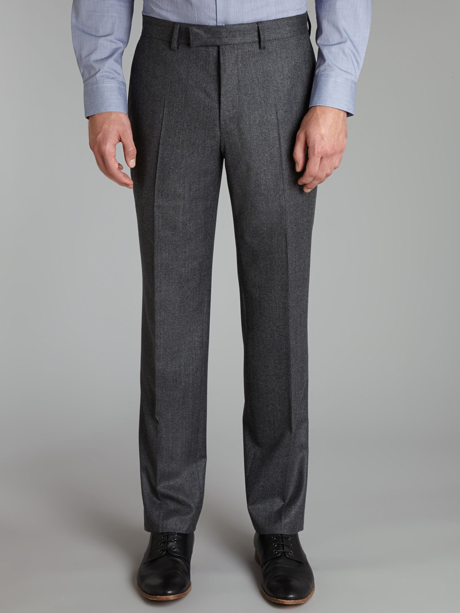 Luxury regular fit flannel trousers