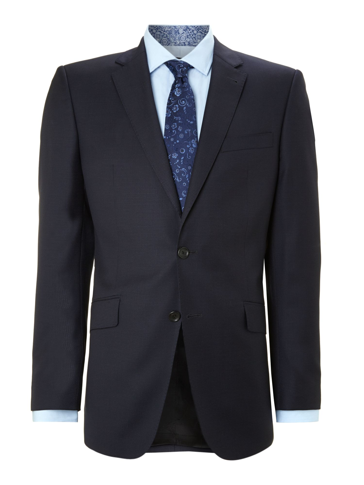 Highlight regular fit pindot suit
