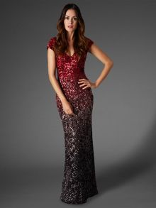 Collette sequin full length dress
