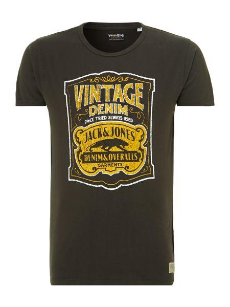 Jack & Jones Vintage denim graphic T-shirt