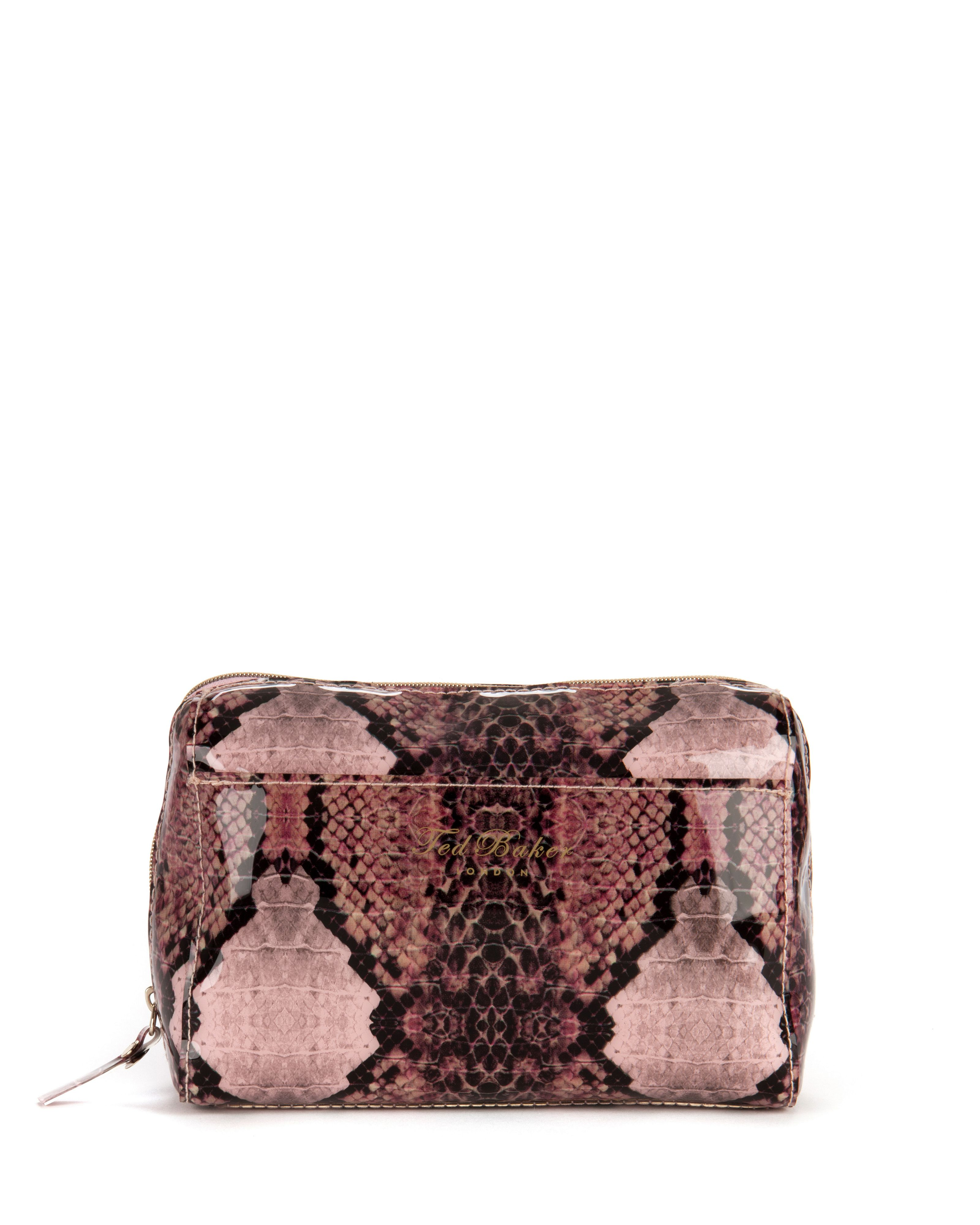 Karrina snake printed small washbag