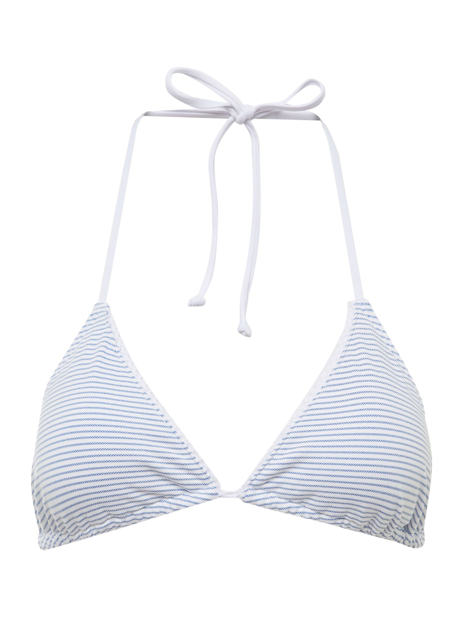 Stripe triangle bikini top