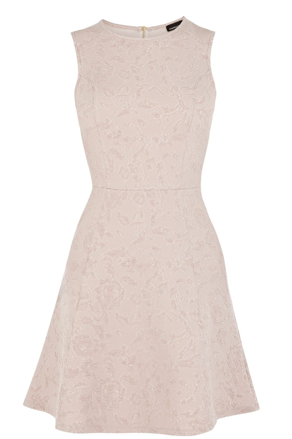 Sleeveless jacquard a-line dress