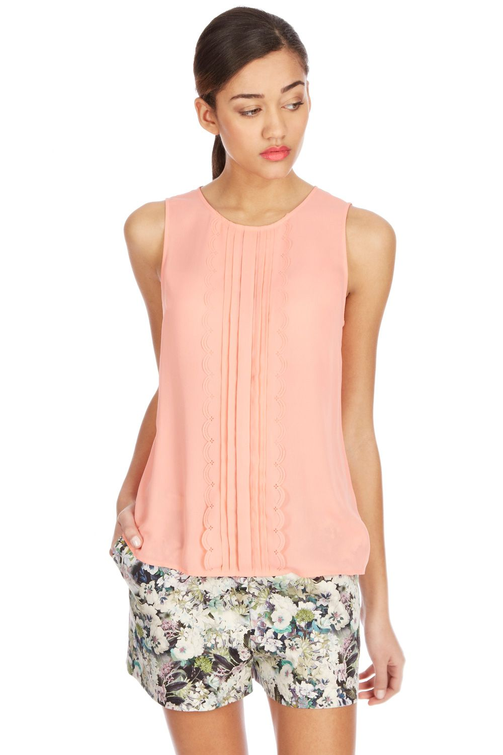 Cutwork shell top