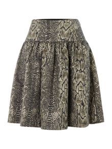 Alice By Temperley Venice snake print a line skirt