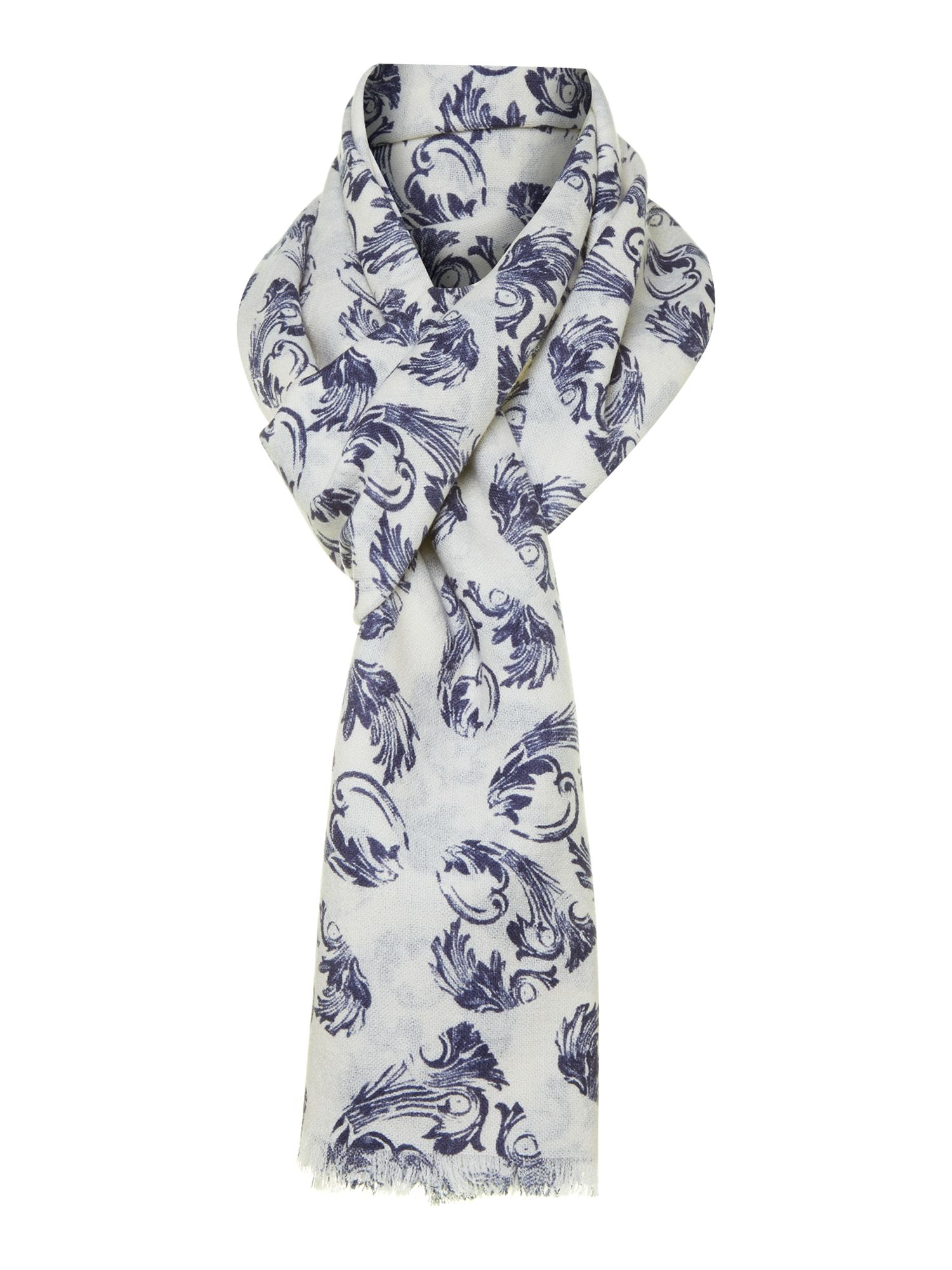 Heritage heart print wool scarf with giftbox