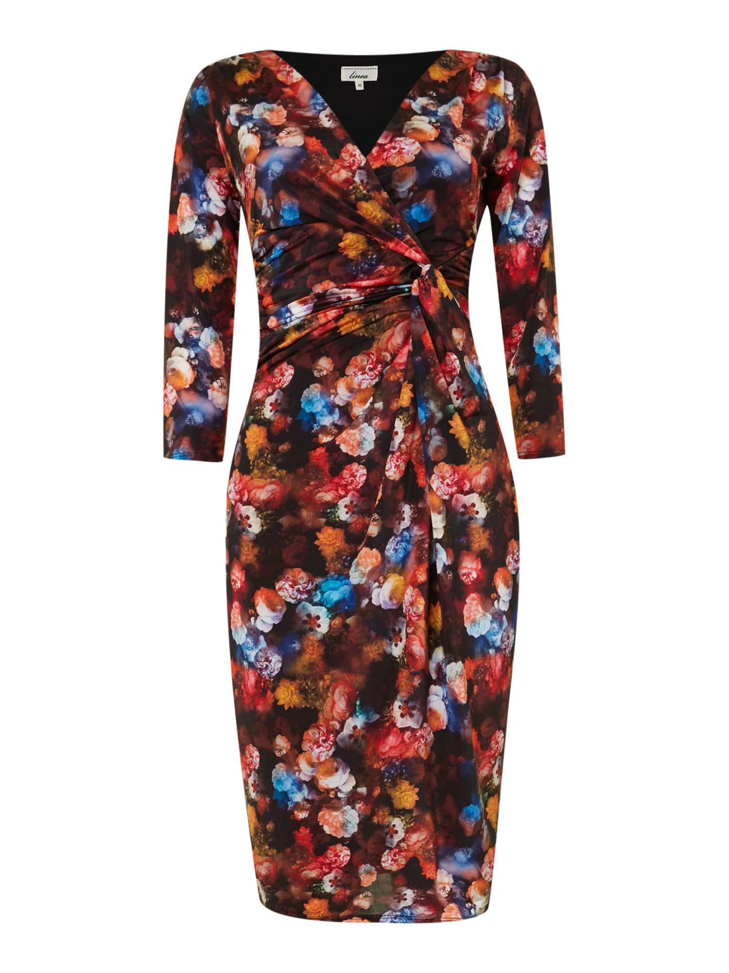 Sally floral ruch side jersey dress