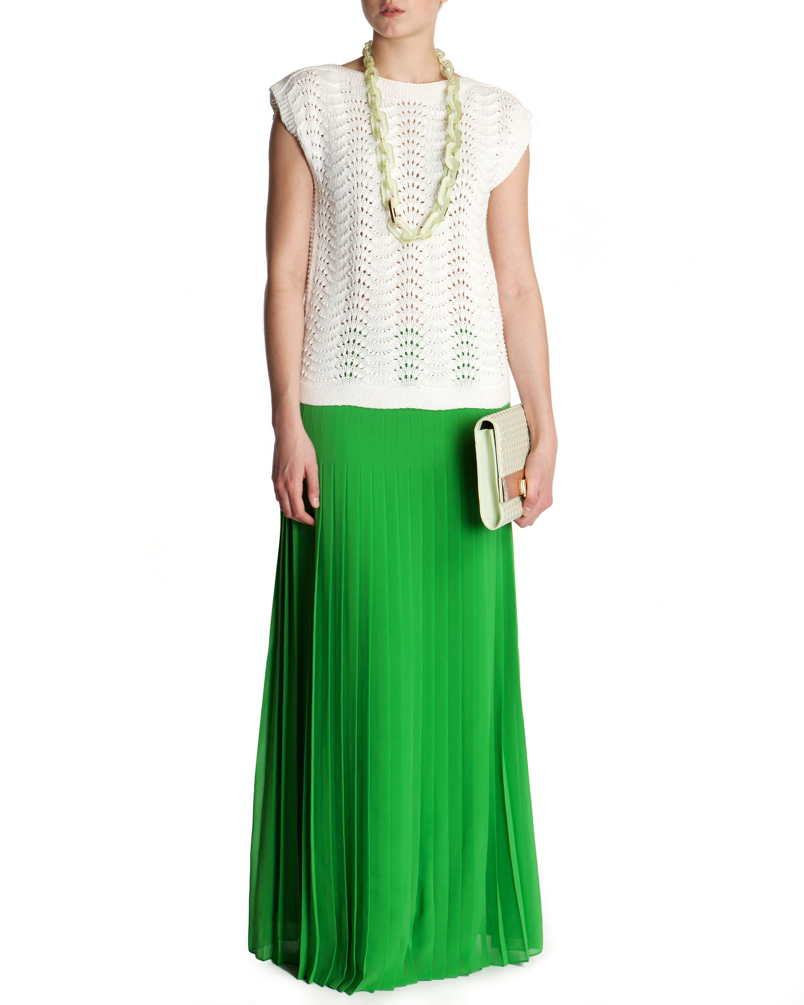 Miquaj pleated maxi skirt