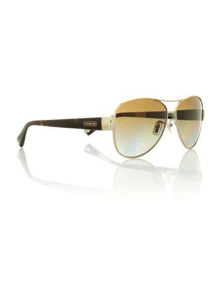Coach Ladies HC7003 gold/brown kristina sunglasses