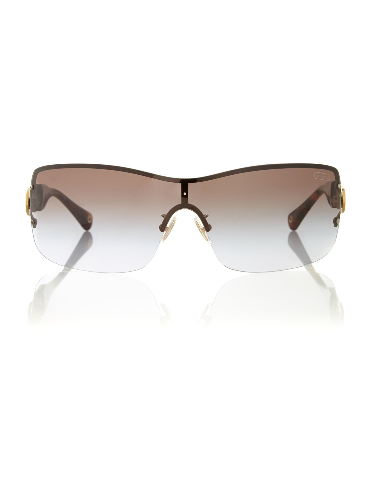 Ladies noelle gold/tortoise brown sunglasses