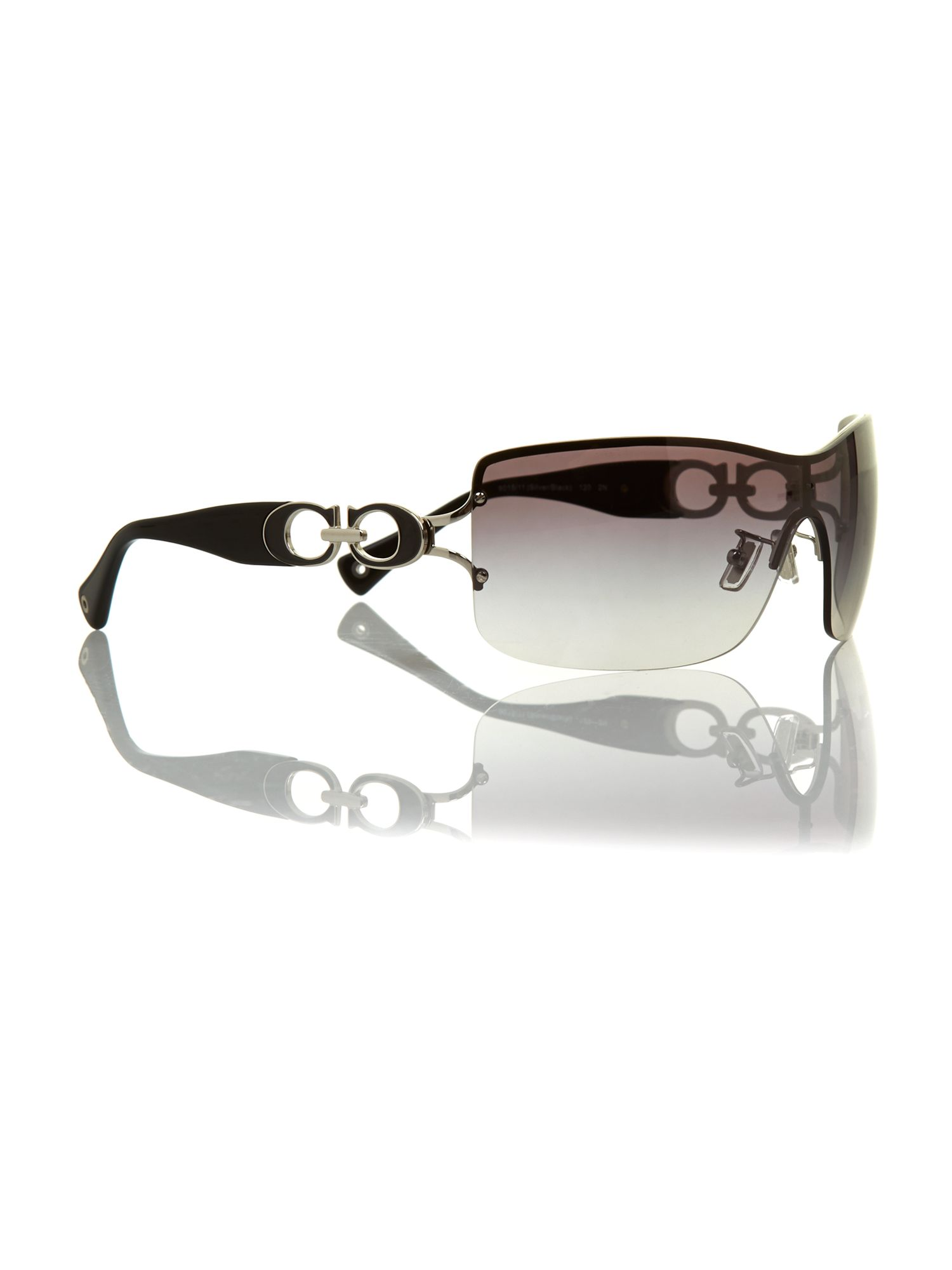 Ladies noelle silver/black sunglasses