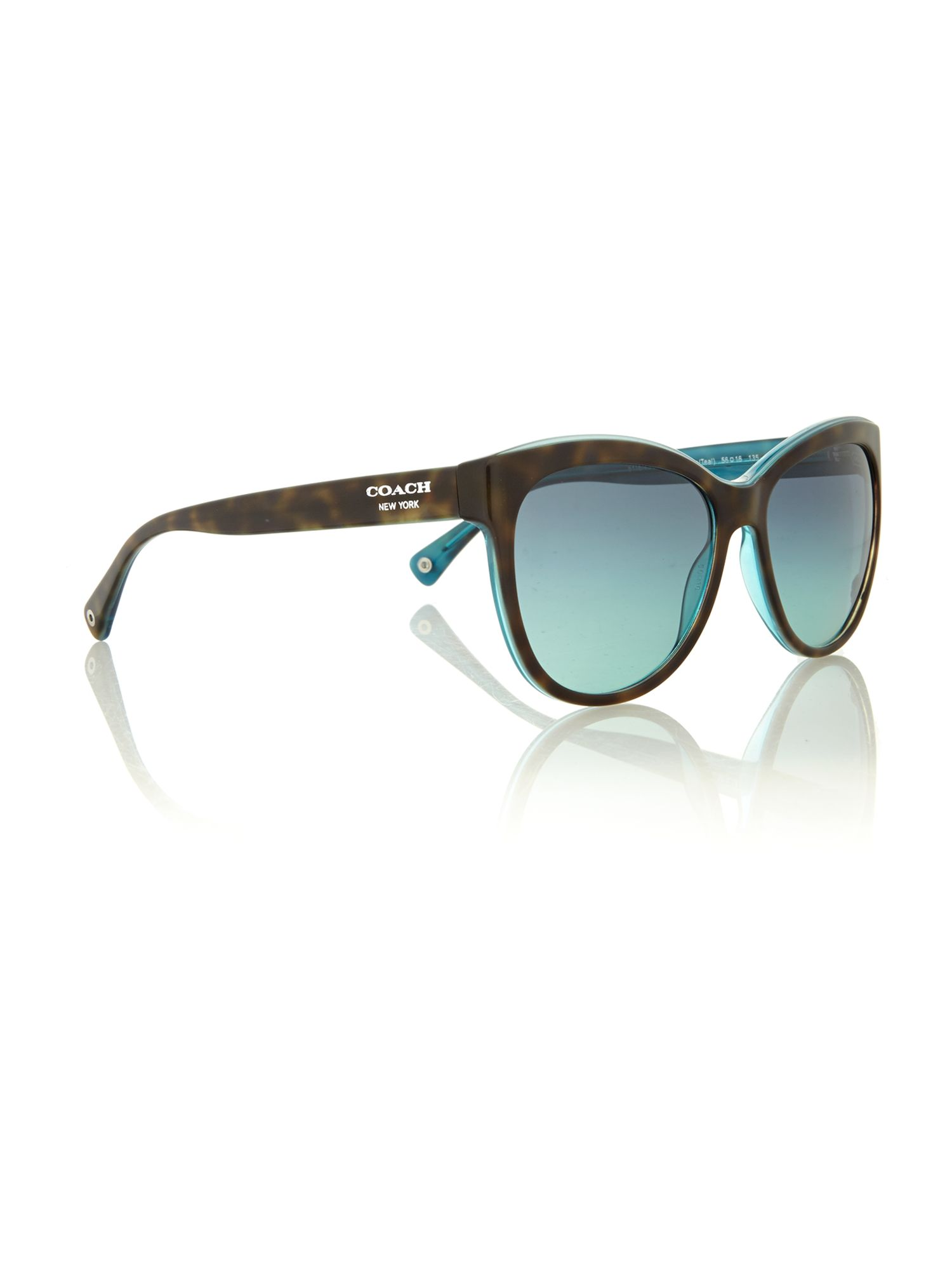 Ladies HC8055 dark tortoise/teal samantha sunglas