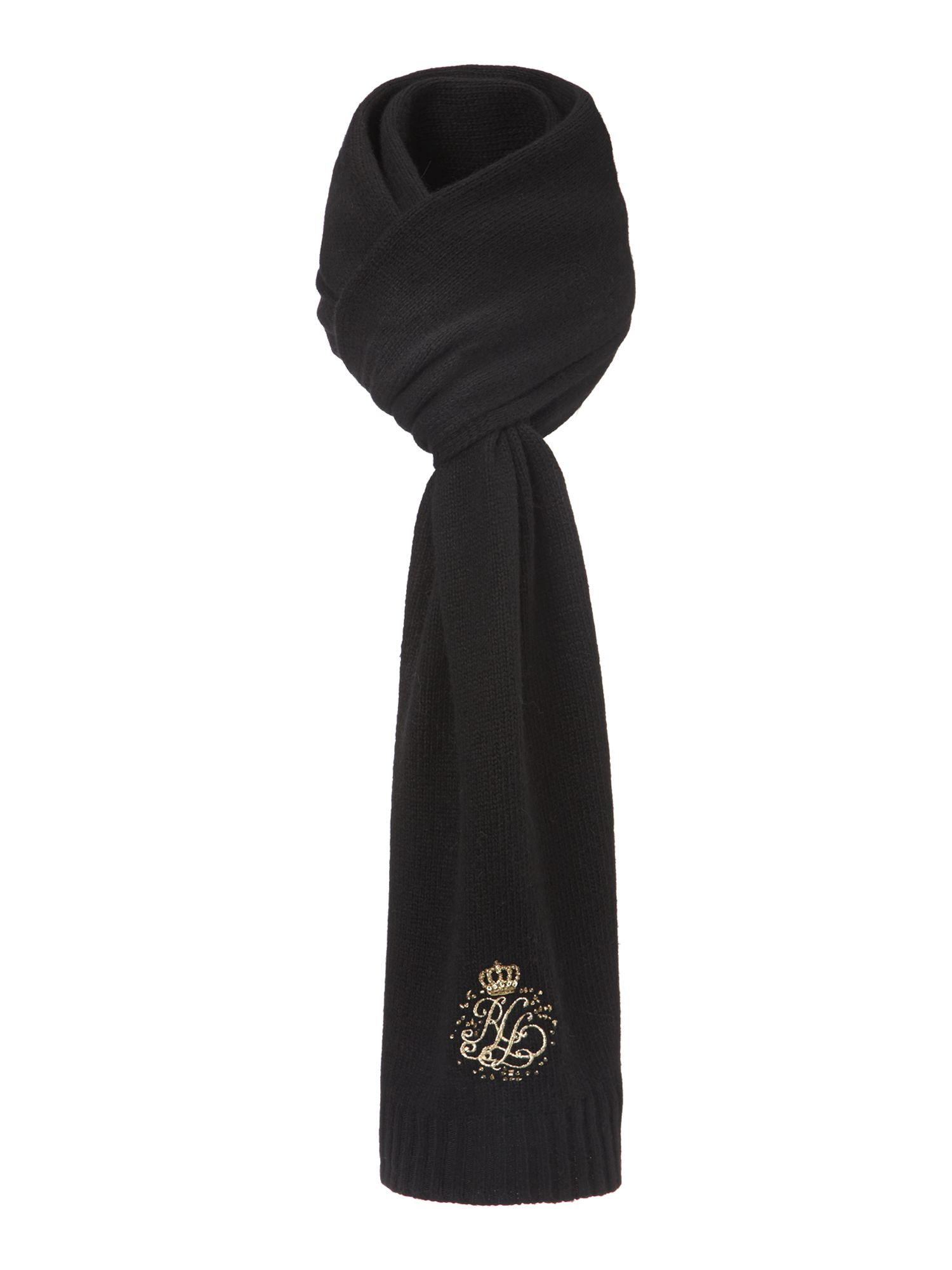 Signature monogram scarf