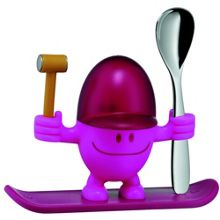 WMF McEgg Egg cup & spoon pink