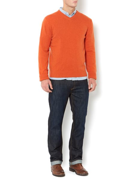 Howick Cashmere v-neck jumper made in Italy