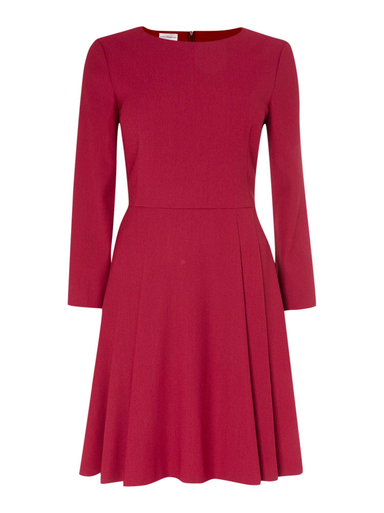 Long sleeved skater dress