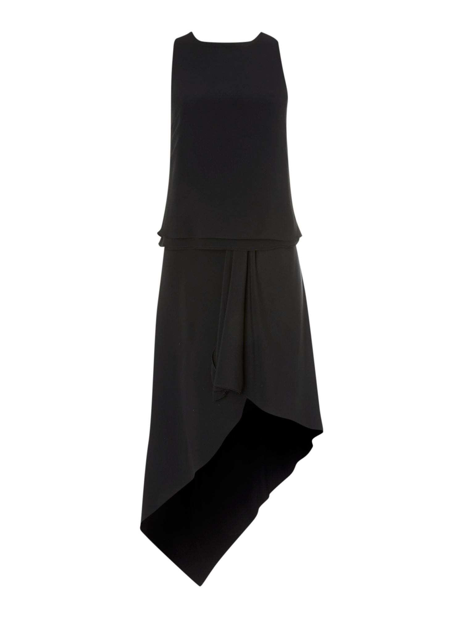 Sleeveless asymmetric hem dress