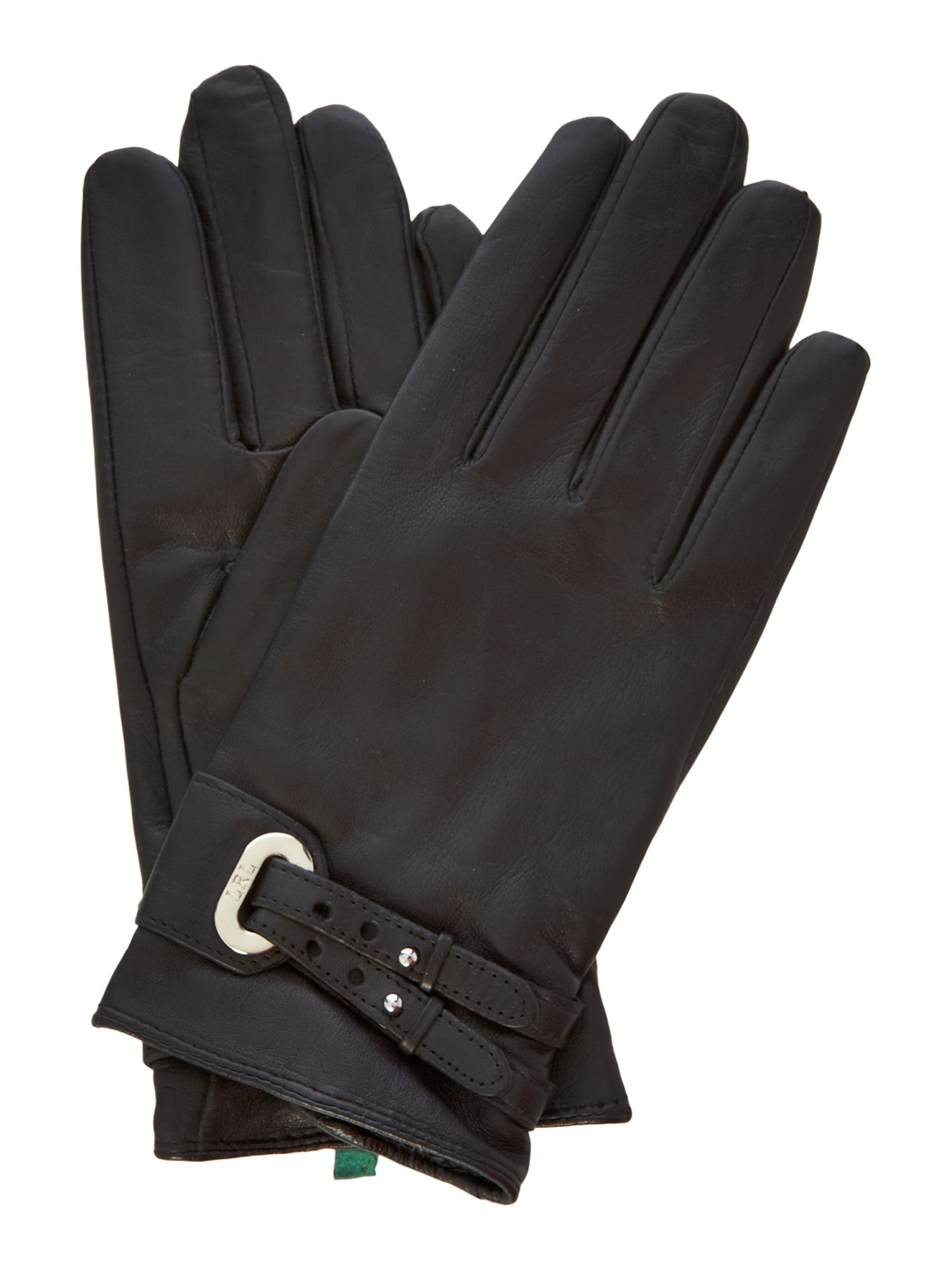 Double belt and grommet gloves