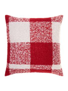 Red woven check cushion