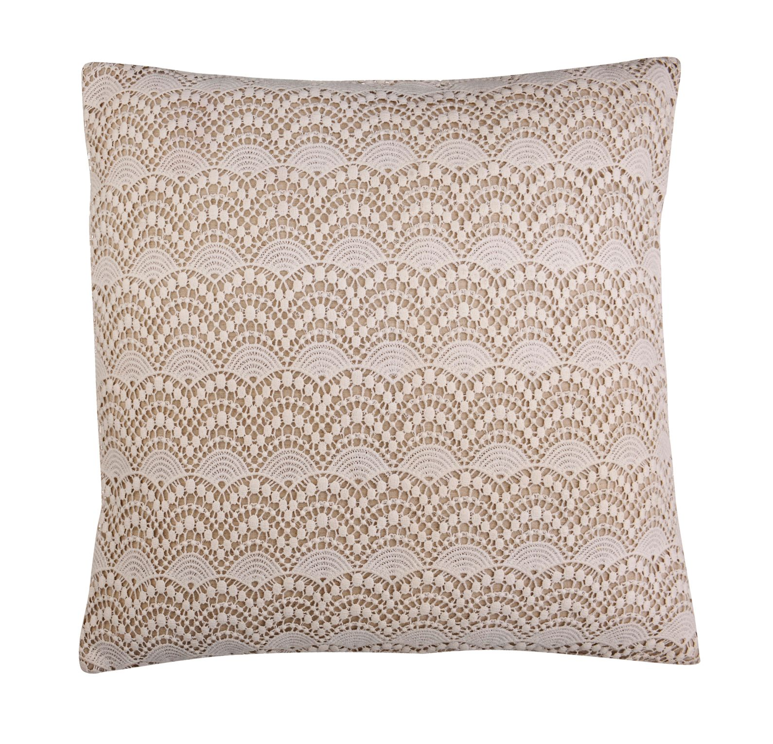 Cream lace cushion