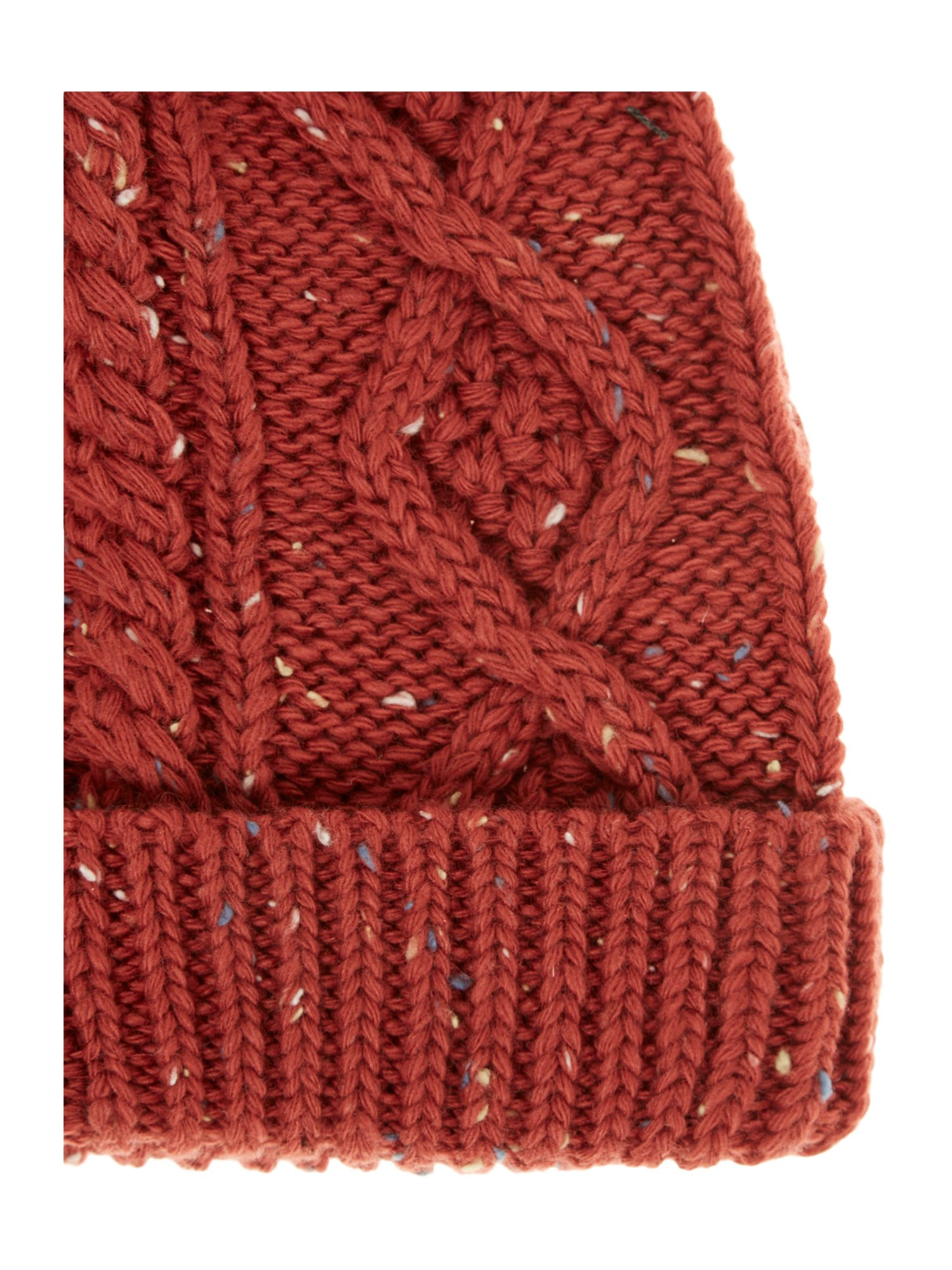 Nepp cable beanie hat with pom pom