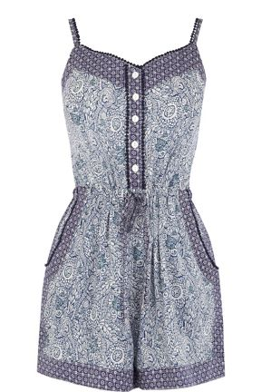 Warehouse Printed Playsuit