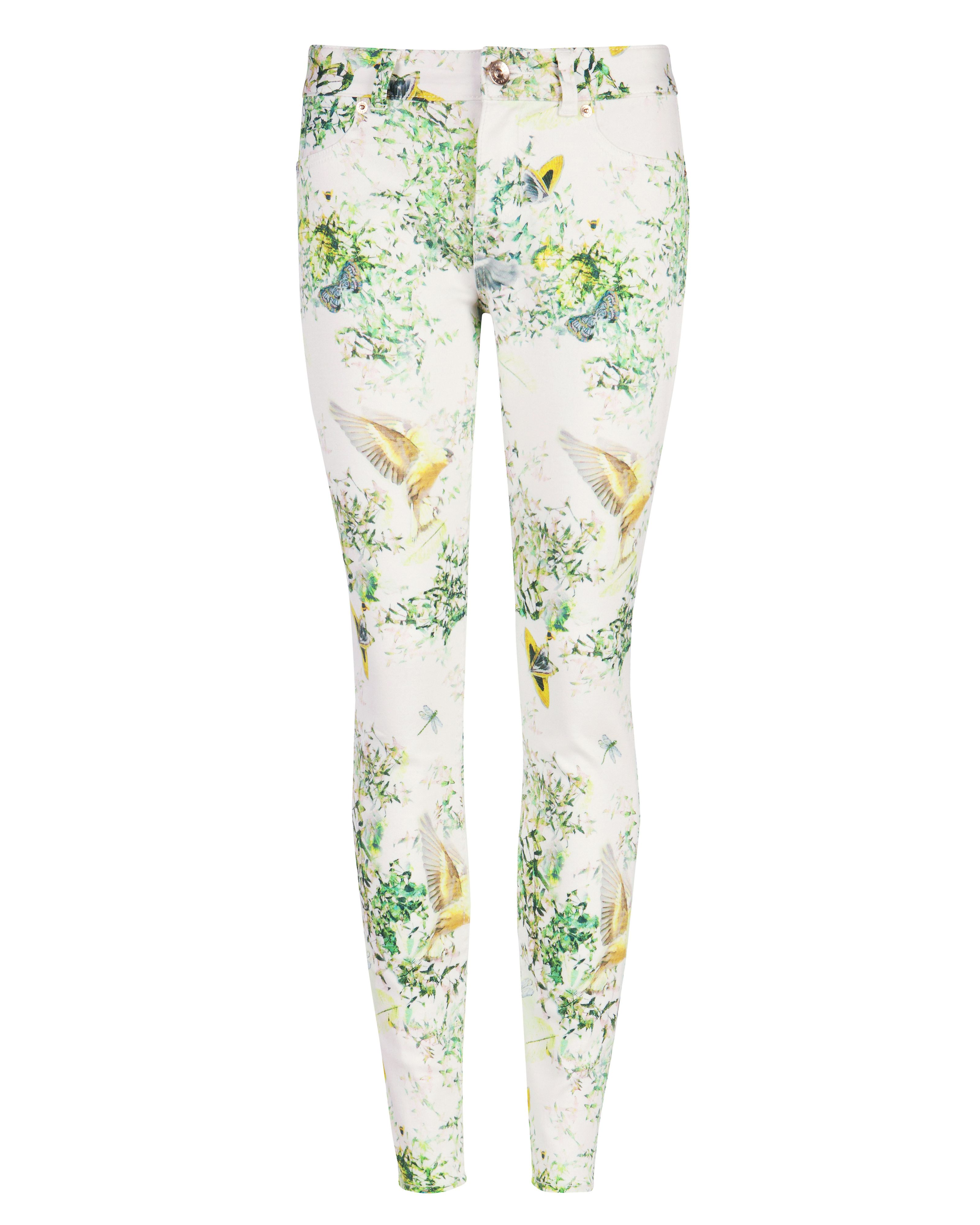 Pannah dancing leaves printed denim
