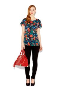 Chain floral jersey