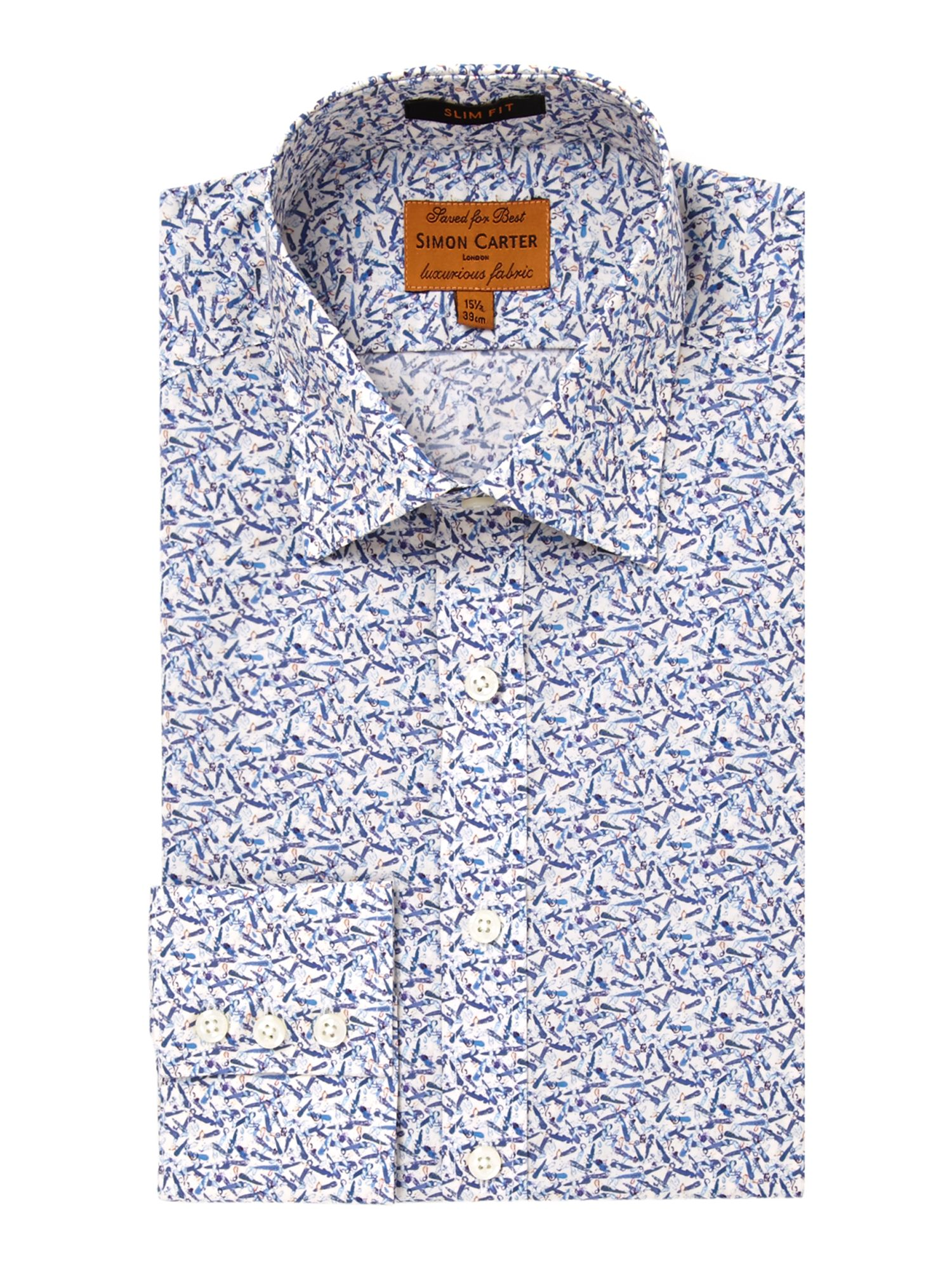 Liberty fabric Jamie Oliver print slim fit shirt