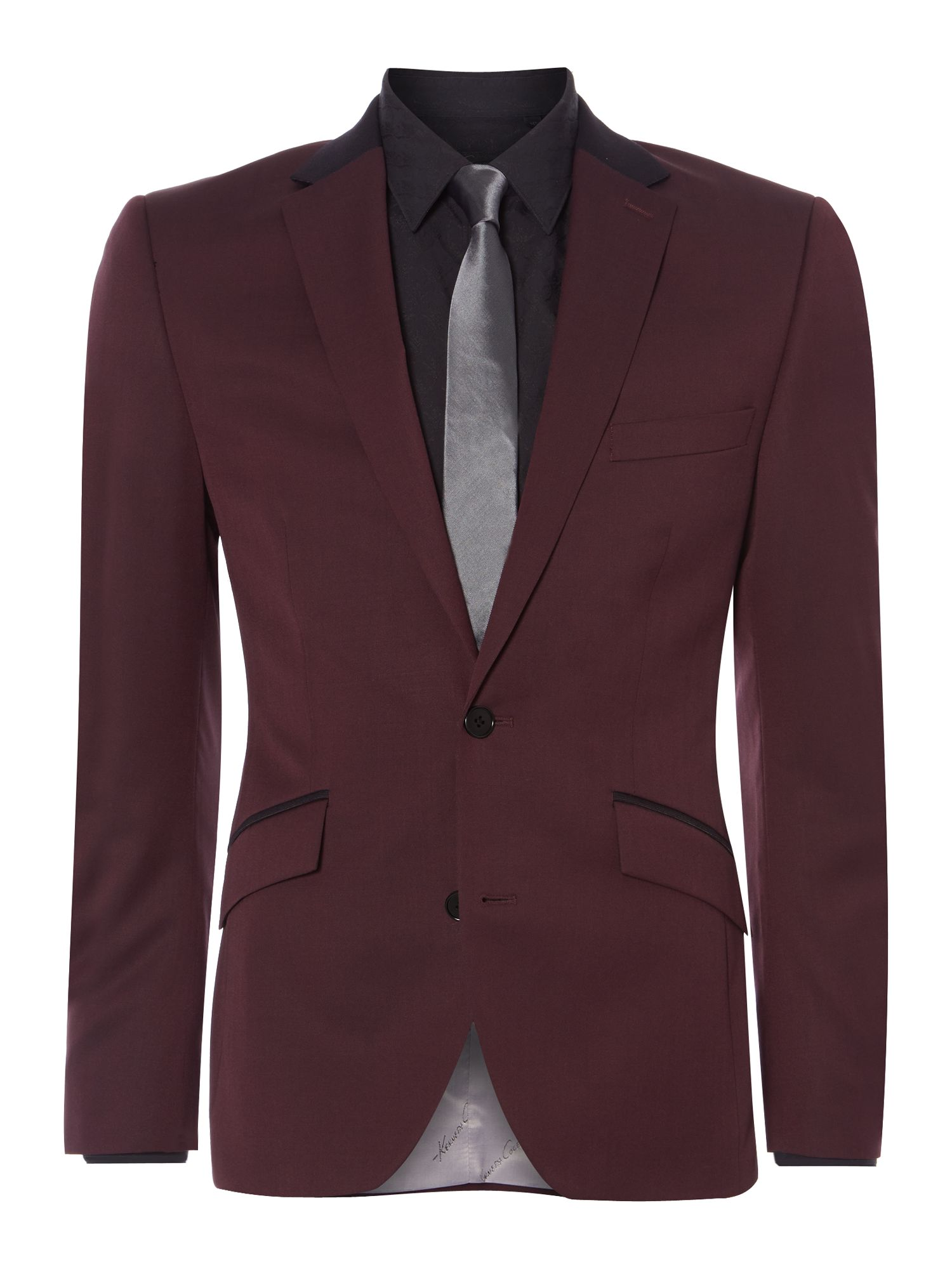 Jones Tonic Slim Fit Rib Detail Suit Jacket