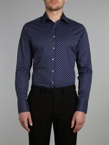 Floral foulard print slim fit shirt