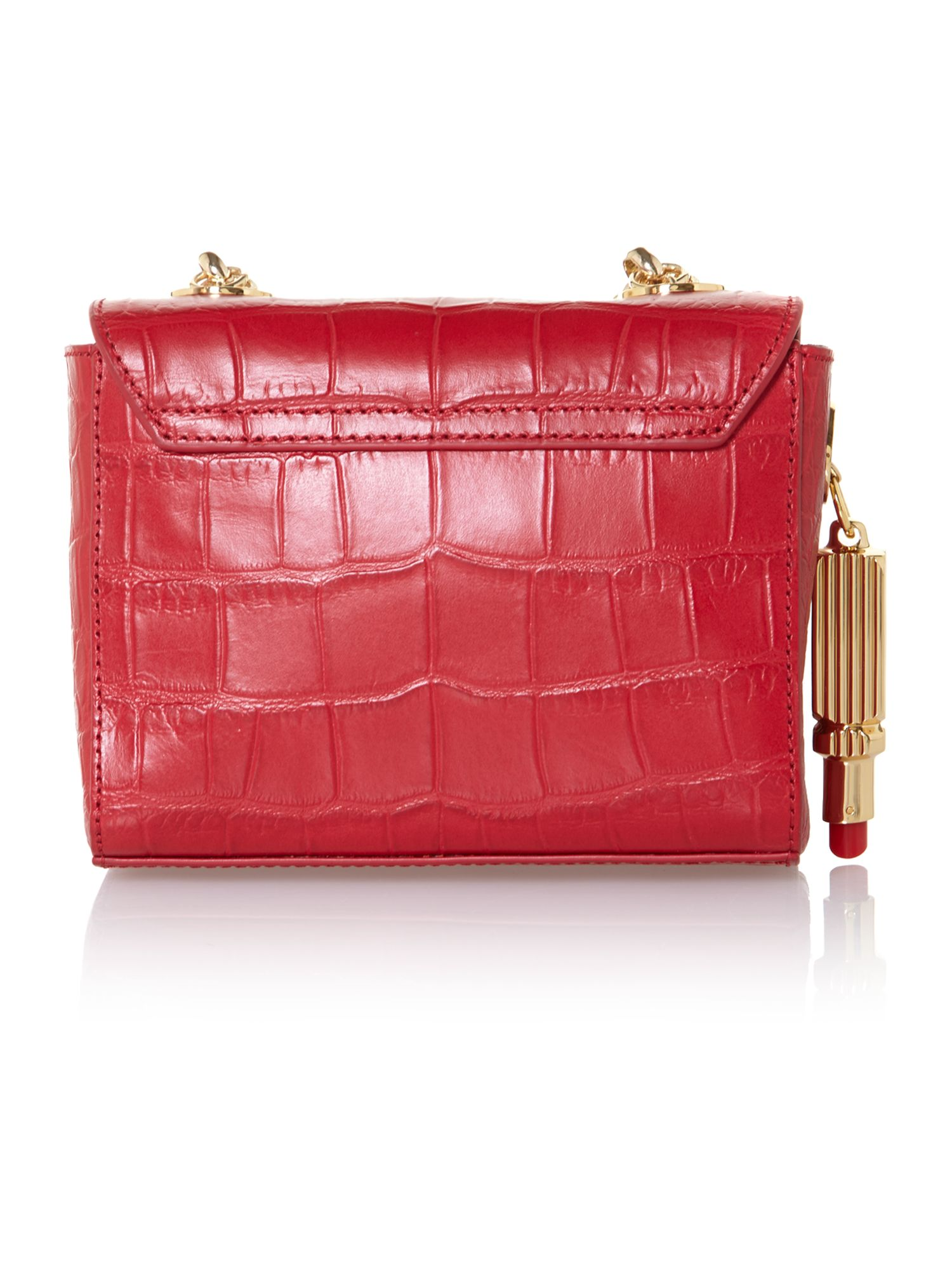 Verity small red crossbody bag