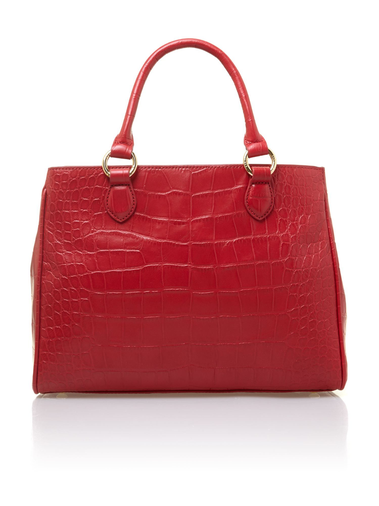 Amelia red tote bag