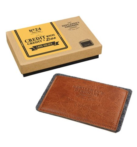 Gentlemen's Hardware Leather Card Holder